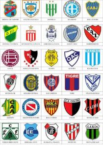 Logos escudos futbol argentino